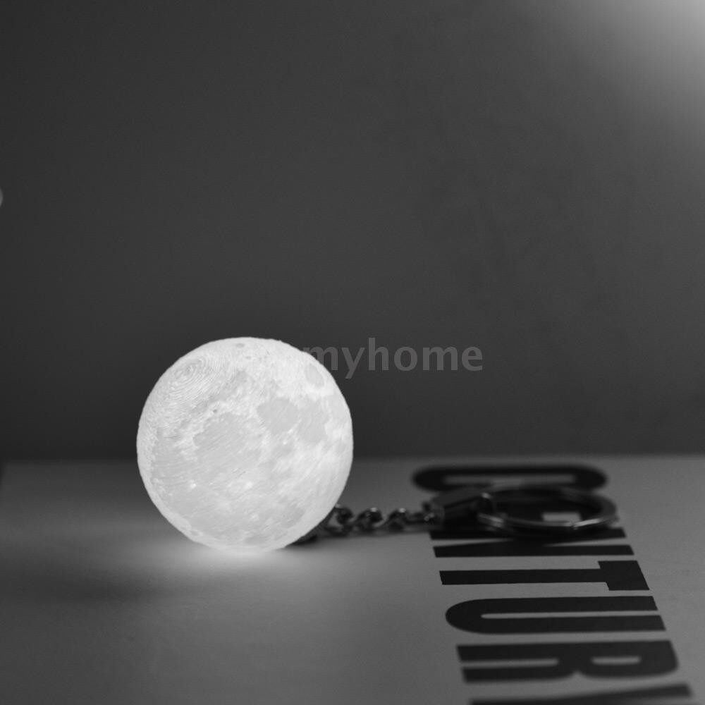 Table Lamps - 3D Printing Moon Lamp LED Light Hanging Decoration with Keychain for Room Home Decor Christmas - #
