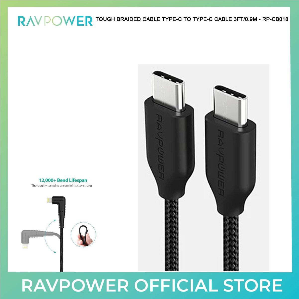 RAVPower Kevlar Braided Cable TYPE-C TO TYPE-C CABLE -RP-CB047