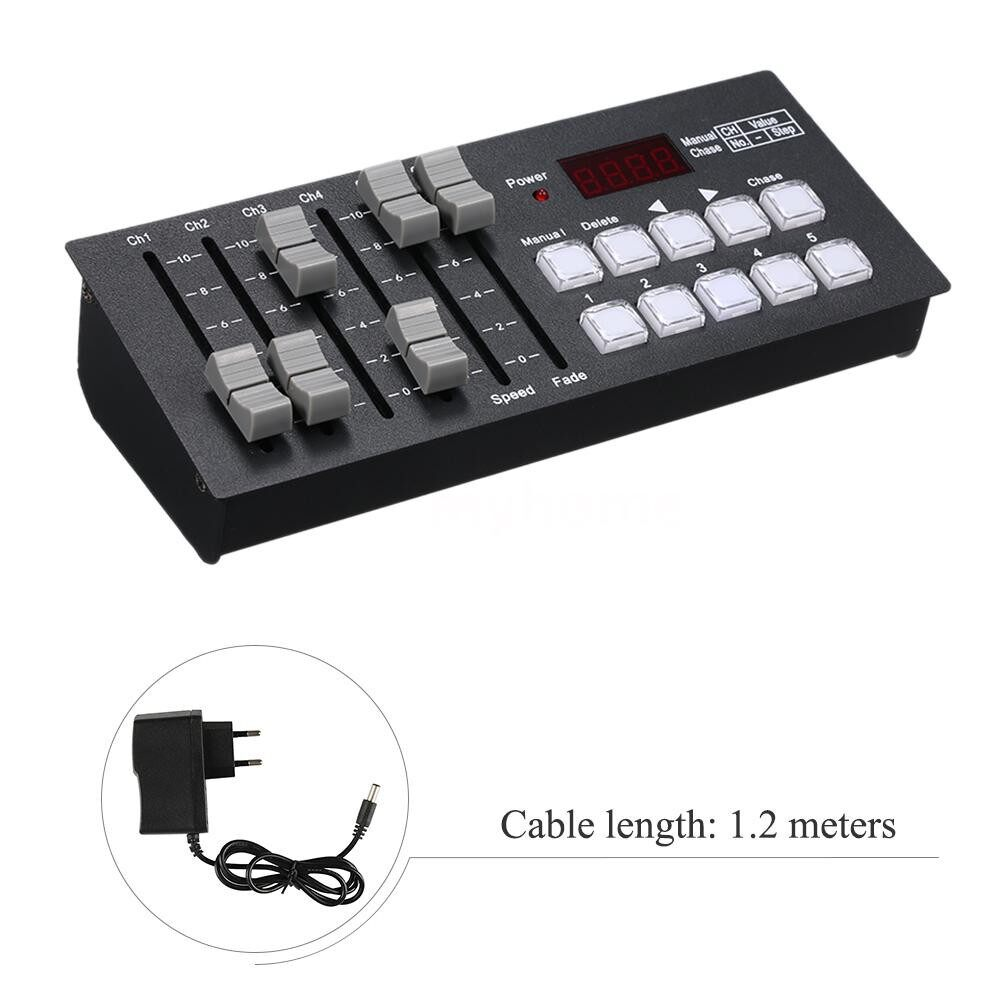 Lighting - DC7-9V 0.2W MINI DMX512 Console Stage Light Controller Built-in 2000mAh High Capacity Rechargeable - Home & Living