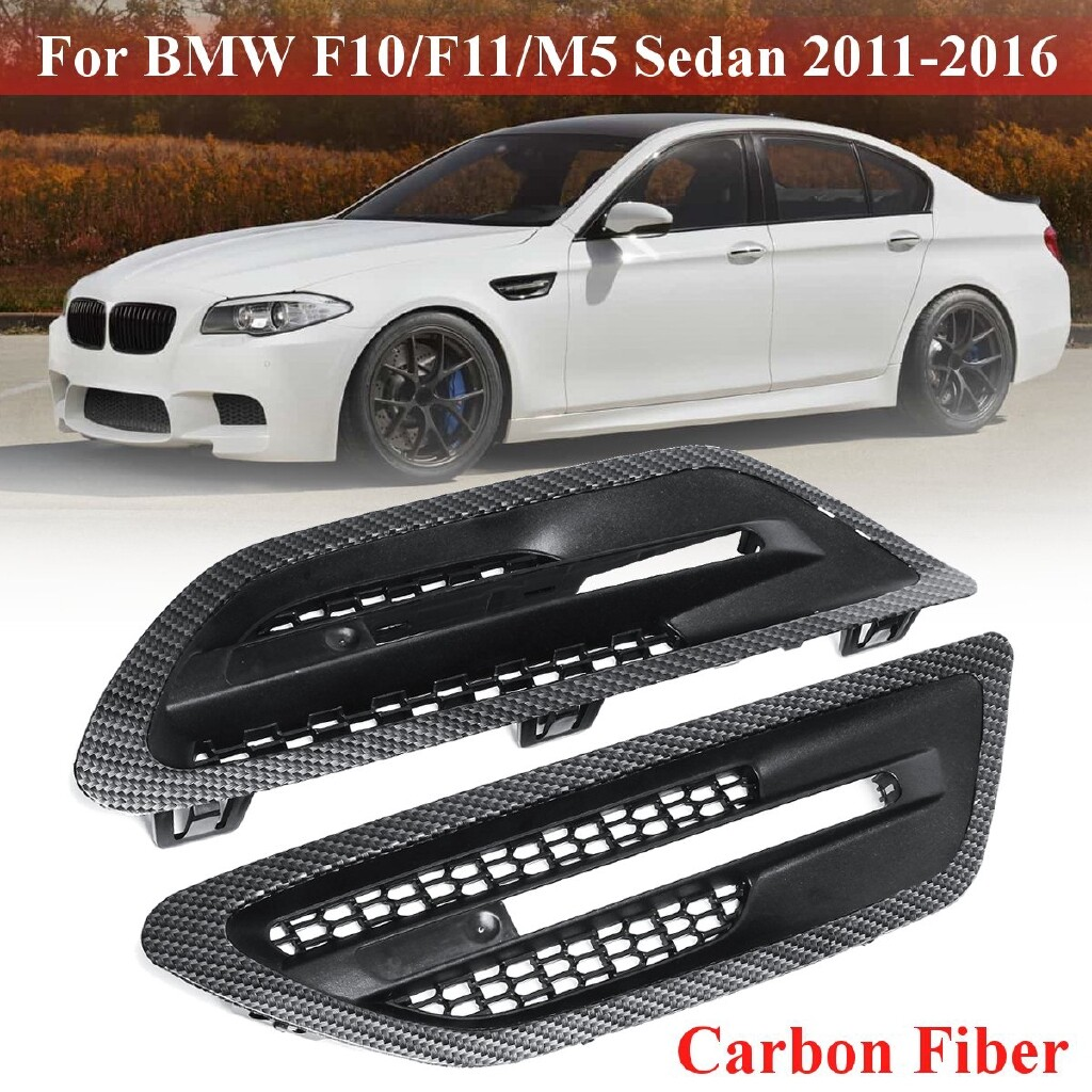 Car Accessories - Pair Car Side Air Flow Vent Fender Grilles For BMW F10/F11/M5 Sedan 11-2016 2015 - Automotive
