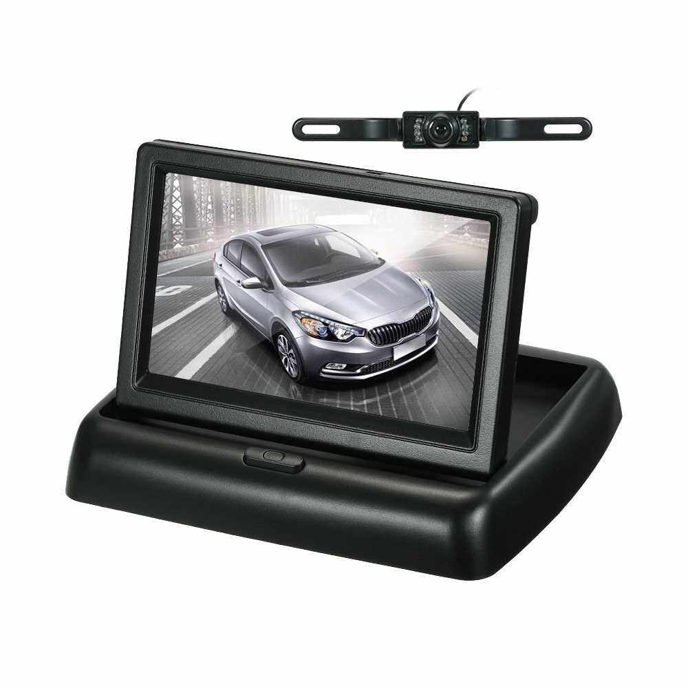 Best Selling 4.3 Inch TFT Color Display Foldable Car LCD Monitor Dashboard Screen Parking Monitor (2)