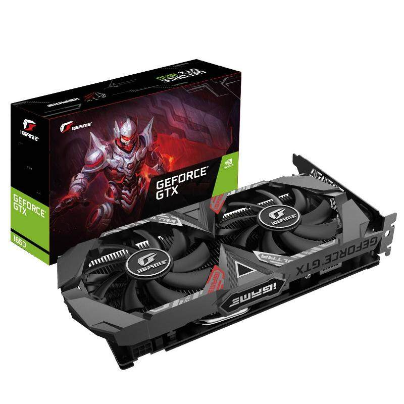 Colorful IGame GeForce GTX 1650 Ultra 4G Nvidia Graphics Card 1485MHz + GDDR5 + 4GB + CUDA Cores 896 + DP + HDMI + DVI