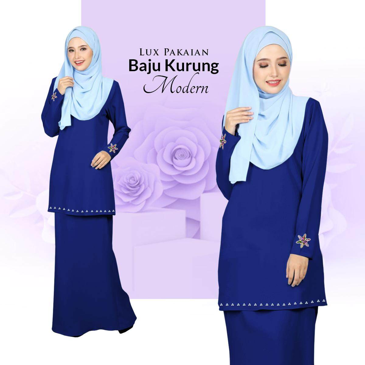 Harga Lux Pakaian Baju Kurung Modern with Stylish Bunch & Batu Terkini
