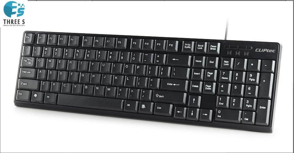READY STOCK - CLiPtec KLASSIC USB Standard Keyboard RZK247