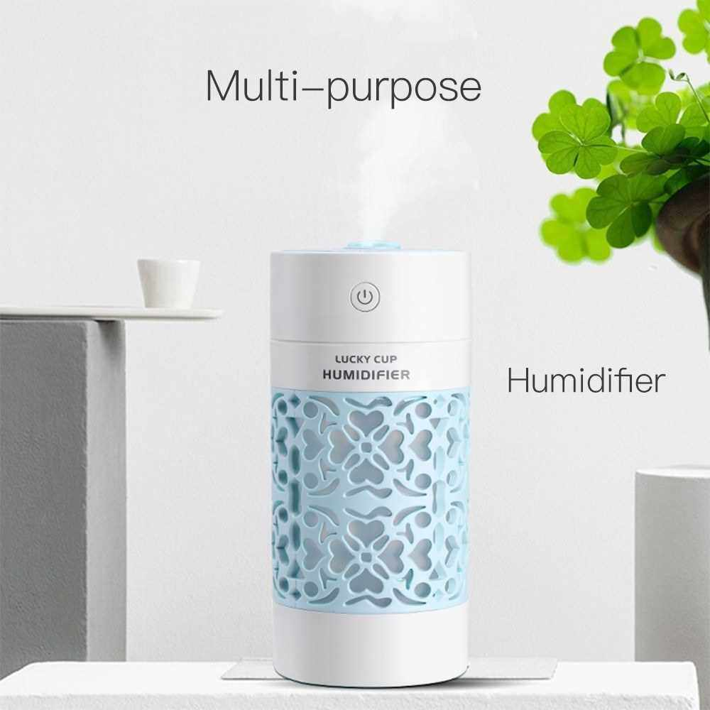 People's Choice SQT-J01 250ml Hollow Carving Air Humidifier 3 in 1 for Car/Home/Office (Navy Blue)