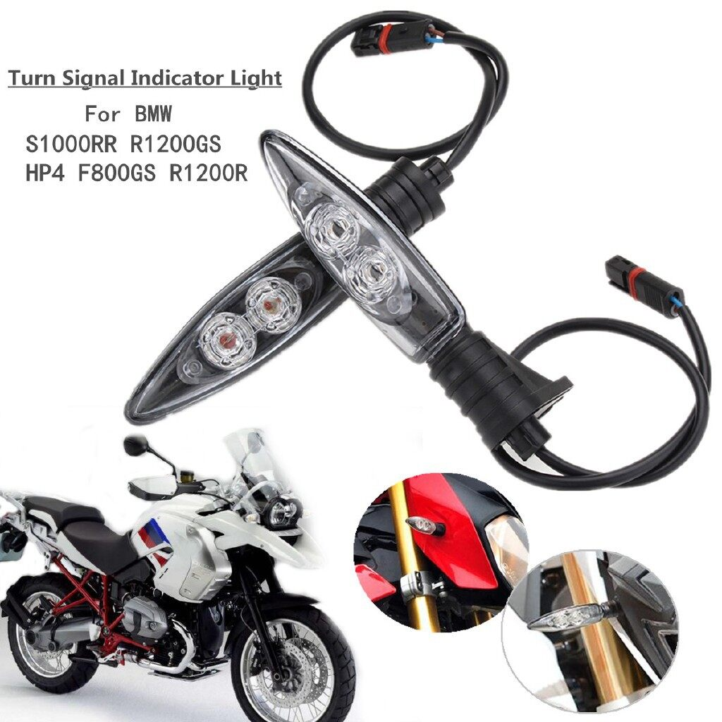 Engine Parts - 2 PIECE(s) LED Turn Signal Indicator Lights For BMW S1000RR R1200GS HP4 F800GS R1200R - Car Replacement