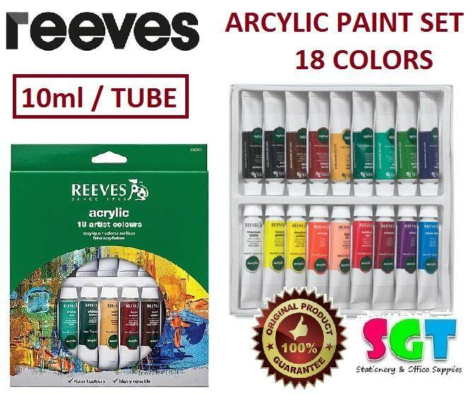 REEVES Acrylic Paint 10ml 18 Colors