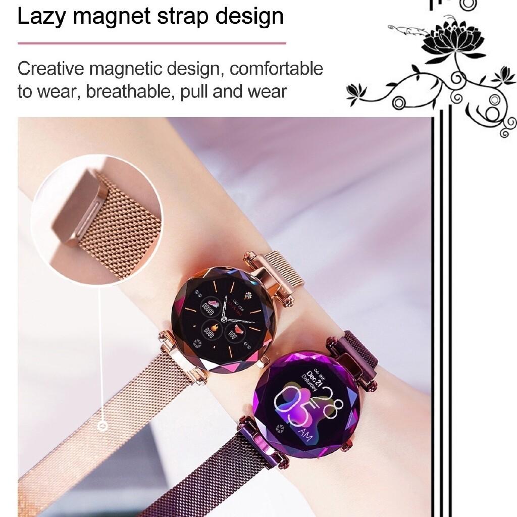 Smart Watch - Women Smart Wrist Watch BLUETOOTH Health Heart Rate Sleep Monitor Menstrual IP68 - BLACK / ROSE GOLD / PURPLE / SILVER / BLUE