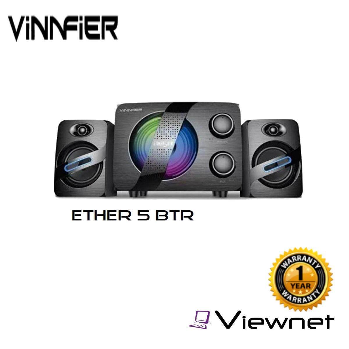 Vinnfier Ether 5 BTR 34W RMS 2.1 Multimedia Bluetooth Speaker USB FM USB/SD slot and Karaoke function