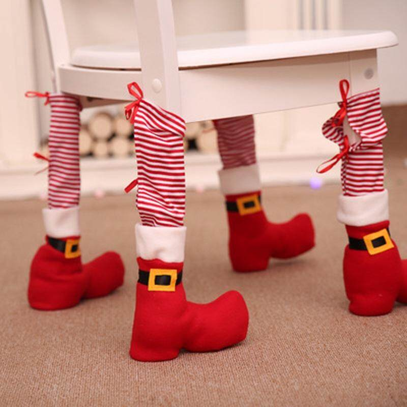 Christmas Decoration Supplies Christmas Table Foot Cover Home Dressing Table Cha (Color:MULTI-A)