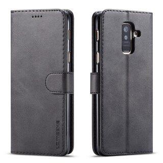 Cho Bao Da Samsung A6 2018 & A6 Plus 2018 Có Giá Đỡ Khe Cắm Thẻ Ốp Điện Thoại Nắp Gập Chống Bụi Bẩn thumbnail