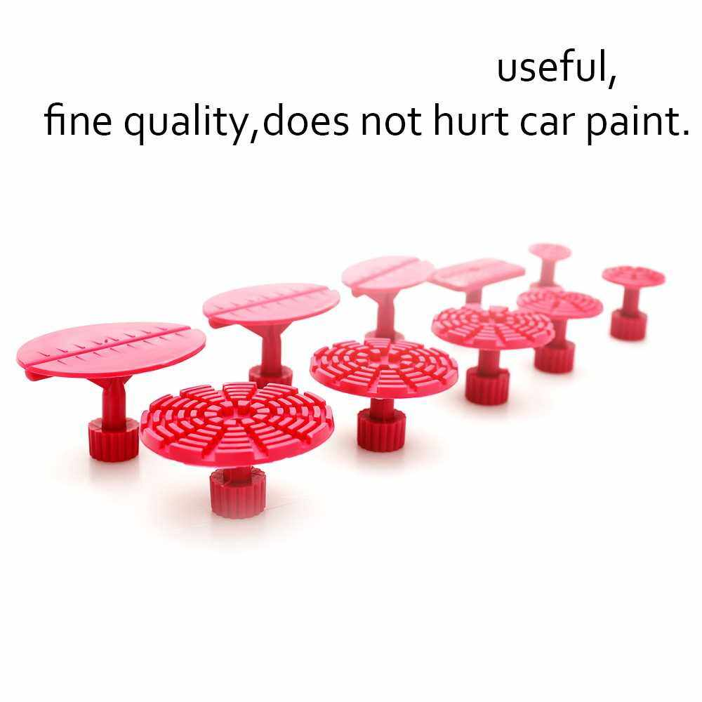 10pcs Rose Red Mixed Pulling Drawing Gasket Tool of Cars Paintless Dent Repair Tools of Auto (Standard)