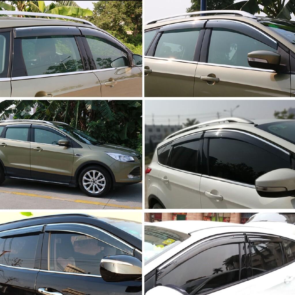 Windscreen Wipers & Windows - 4 PIECE(s) Window Visor Vent Rain Sun Shade Guard Deflectors For Ford Escape 2013- - Car Replacement Parts