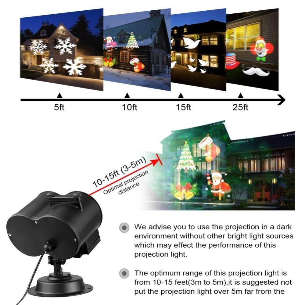 Printers & Projectors - PORTABLE Remote Control Projection LED Lamp For Christmas Home Garden Decora - Computer & Accessories