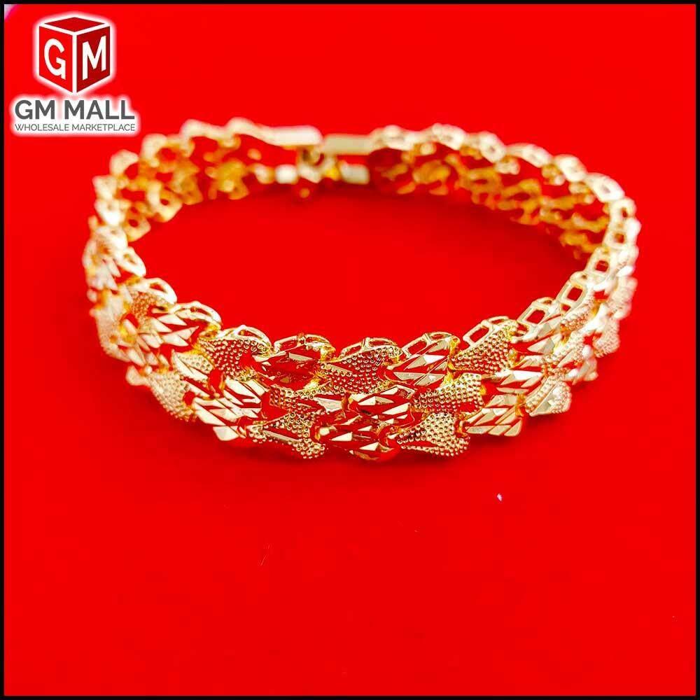 Emas Korea Jewellery - Gelang Tangan Pair Pasir Kikir (EK-2032-6)