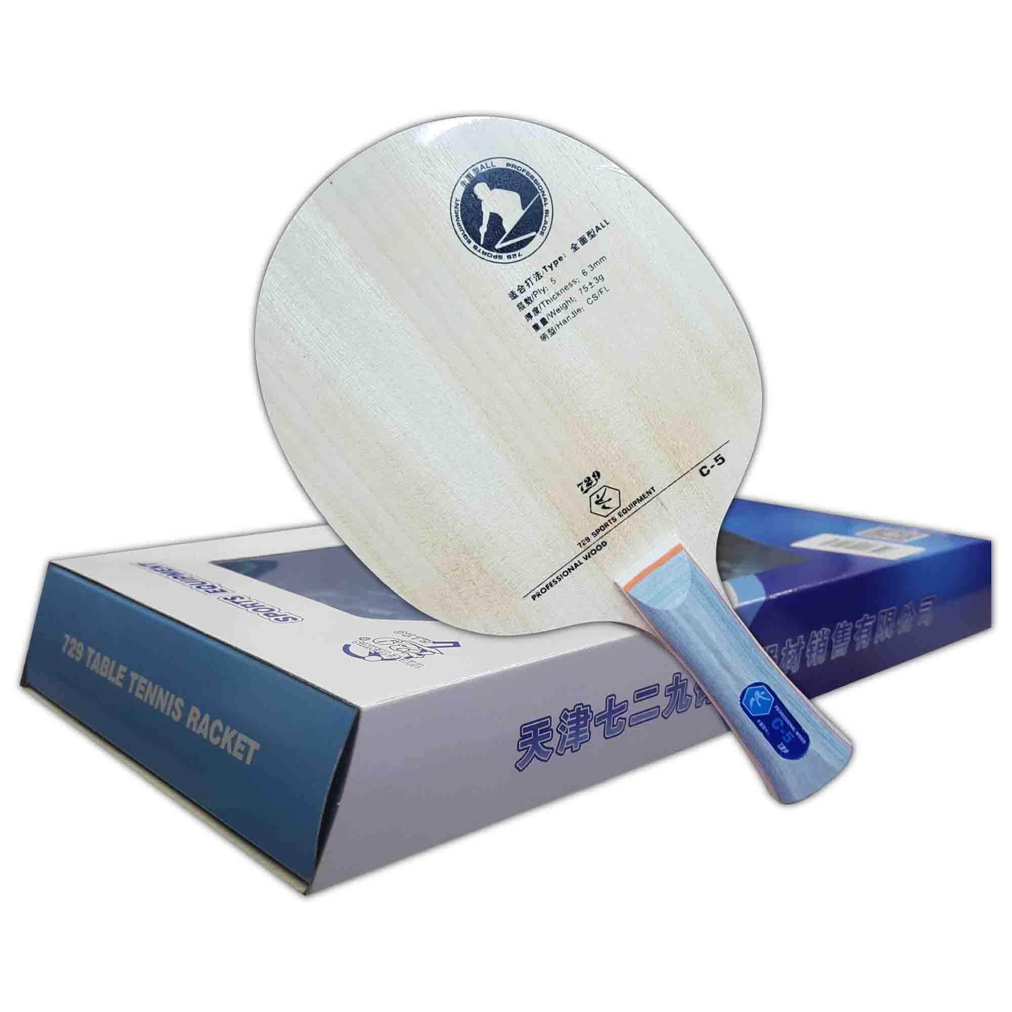 729 Friendship 5 Ply Wood Table Tennis Bat C-5