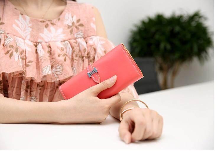 Bolster Store Women Ladies Fashion Flap Long Wallet Purse Dompet Wanita