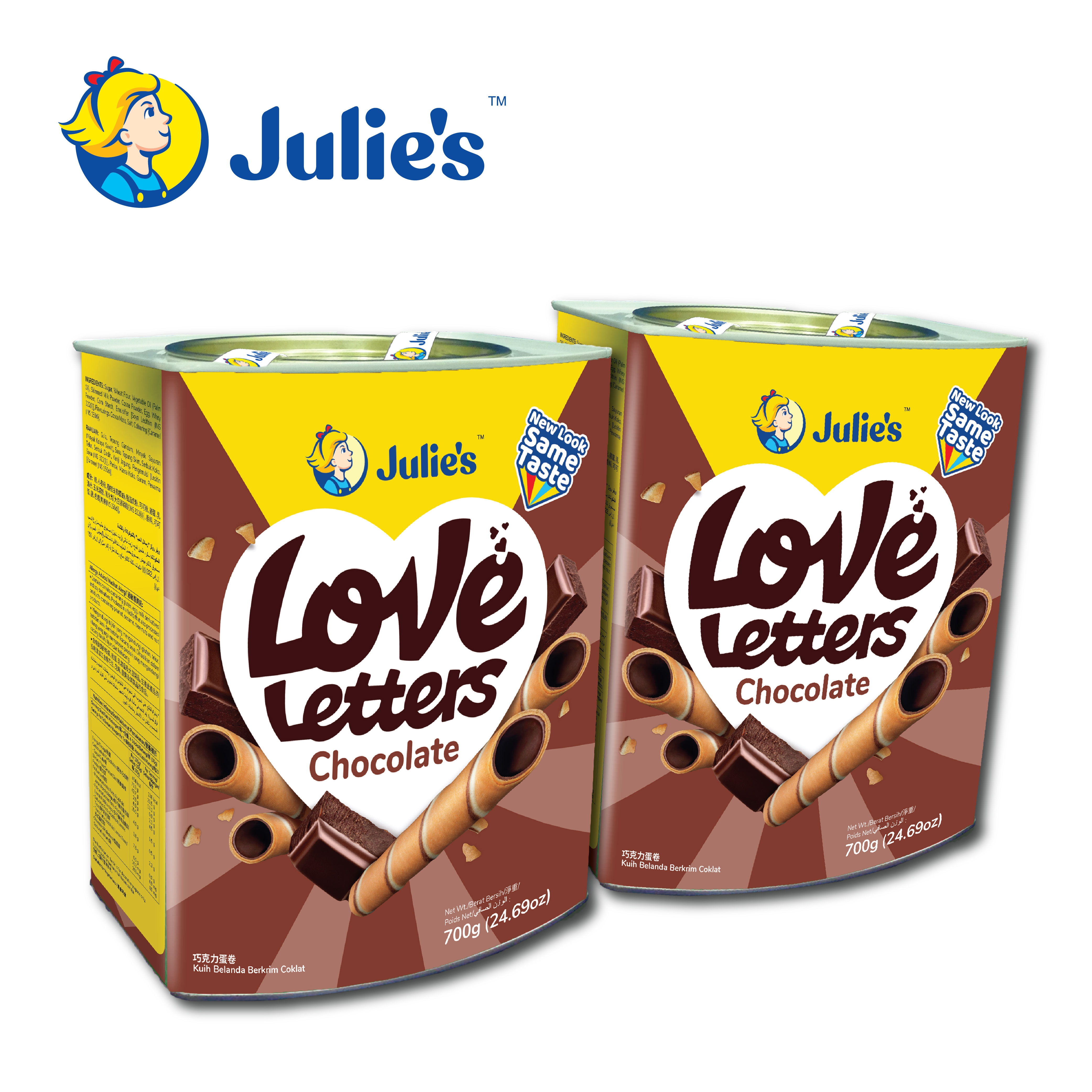 Julie\'s Love Letters Chocolate 700g x 2 tins [Inner Pack Online Exclusive]