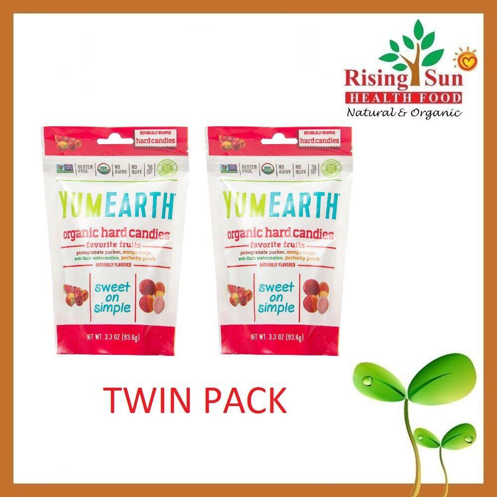 Yum Earth Organic Hard Candies 3 Oz - Twin Pack