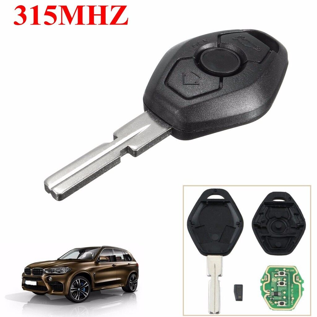 Car Accessories - 315MHZ 3 BUTTONS REMOTE KEY FOB REPAIR For BMW E38 E39 E46 X3 X5 3 5 7 SERIES - Automotive