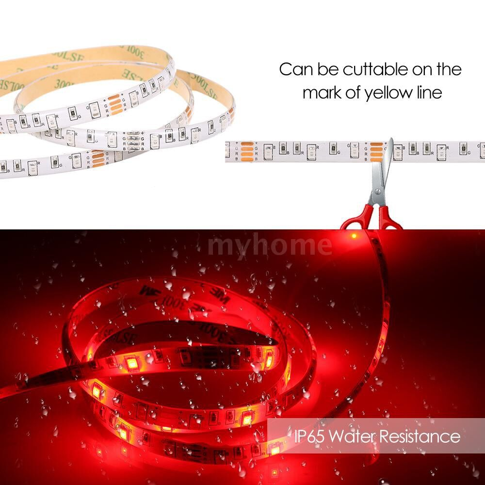 Lighting - DC 4.5V LEDs Lamp Strips AA Batterys Powered Operated Dimmable Brightness Adjustable Flexible - RGB-0.5M / RGB-2M / RGB-1M / WARM WHITE-1M / WARM WHITE-2M / WARM WHITE-0.5M / WHITE-0.5M / WHITE-2M / WHITE-1M
