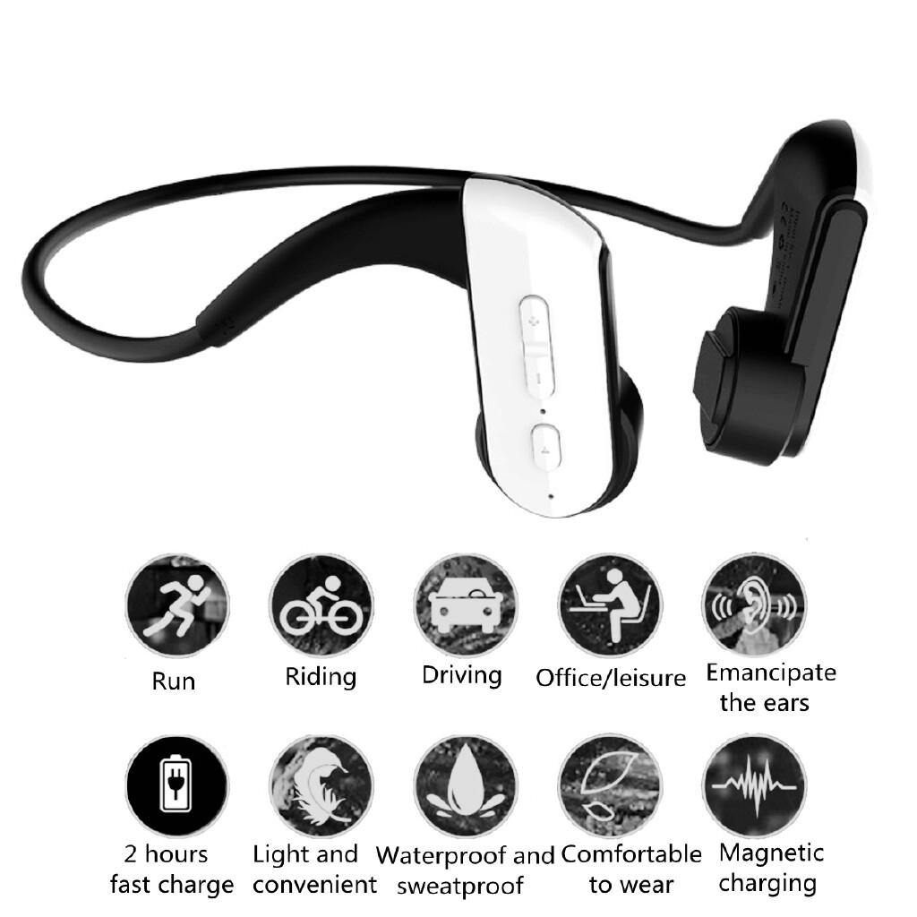 Over-Ear Headphones - E3 Bone Conduction BLUETOOTH Magnetic USB Charging 4.1 Head SET Headphone - BLACK E3 / WHITE E3