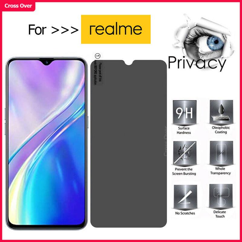 Realme 7 7i 5 5s 5i 5 Pro 6 6i 6 Pro C2 C3 C11 C15 C12 XT X50 Pro 3 3 Pro Privacy Tempered Glass Anti-Spy