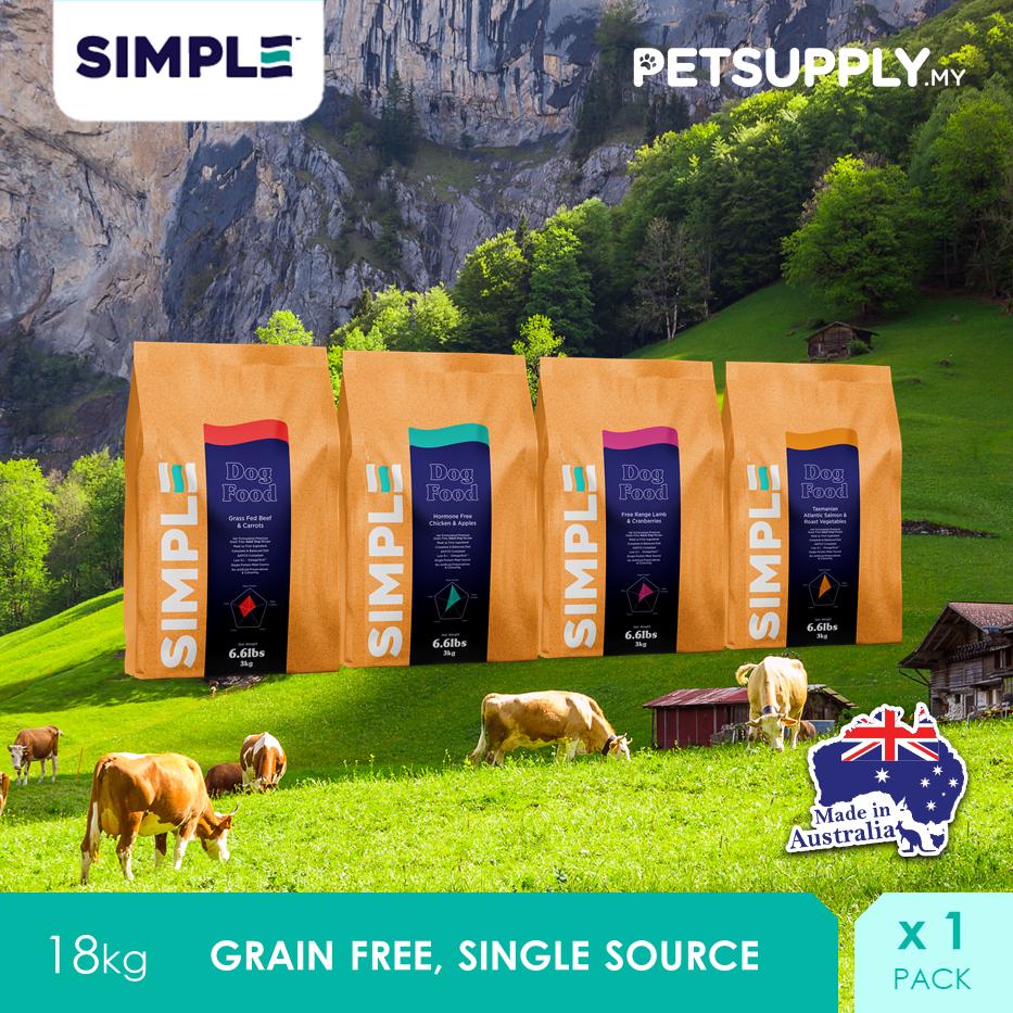 SIMPLE Australian Grain Free Dog Food 18KG [PETSUPPLY.MY]