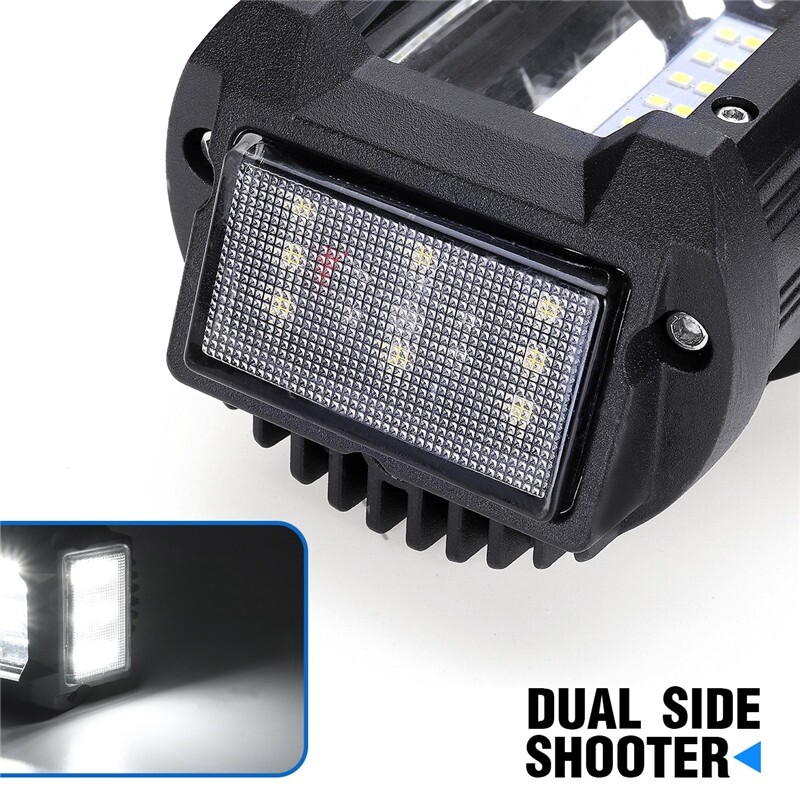 Car Lights - 23Inch Dual Side Shooter LED Work Light Bar Combo Offroad ATV Lamp 600W - Replacement Parts