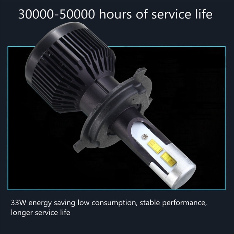 Car Lights - 2x H4 H7 H11 COB LED 33W 3500LM Car Headlight Conversion Lamp Bulb - Replacement Parts