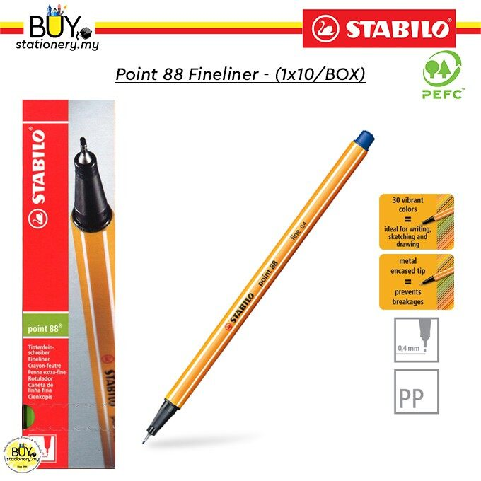 STABILO® Point 88® Fineliner - (1x10/BOX)