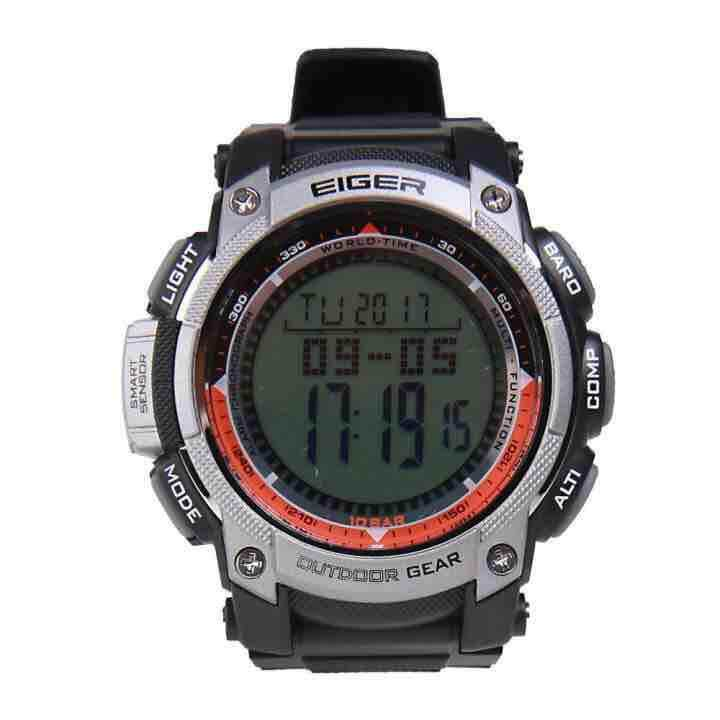 Eiger Men's Mercury YP10515 ABC Digital Wristwatch - Black