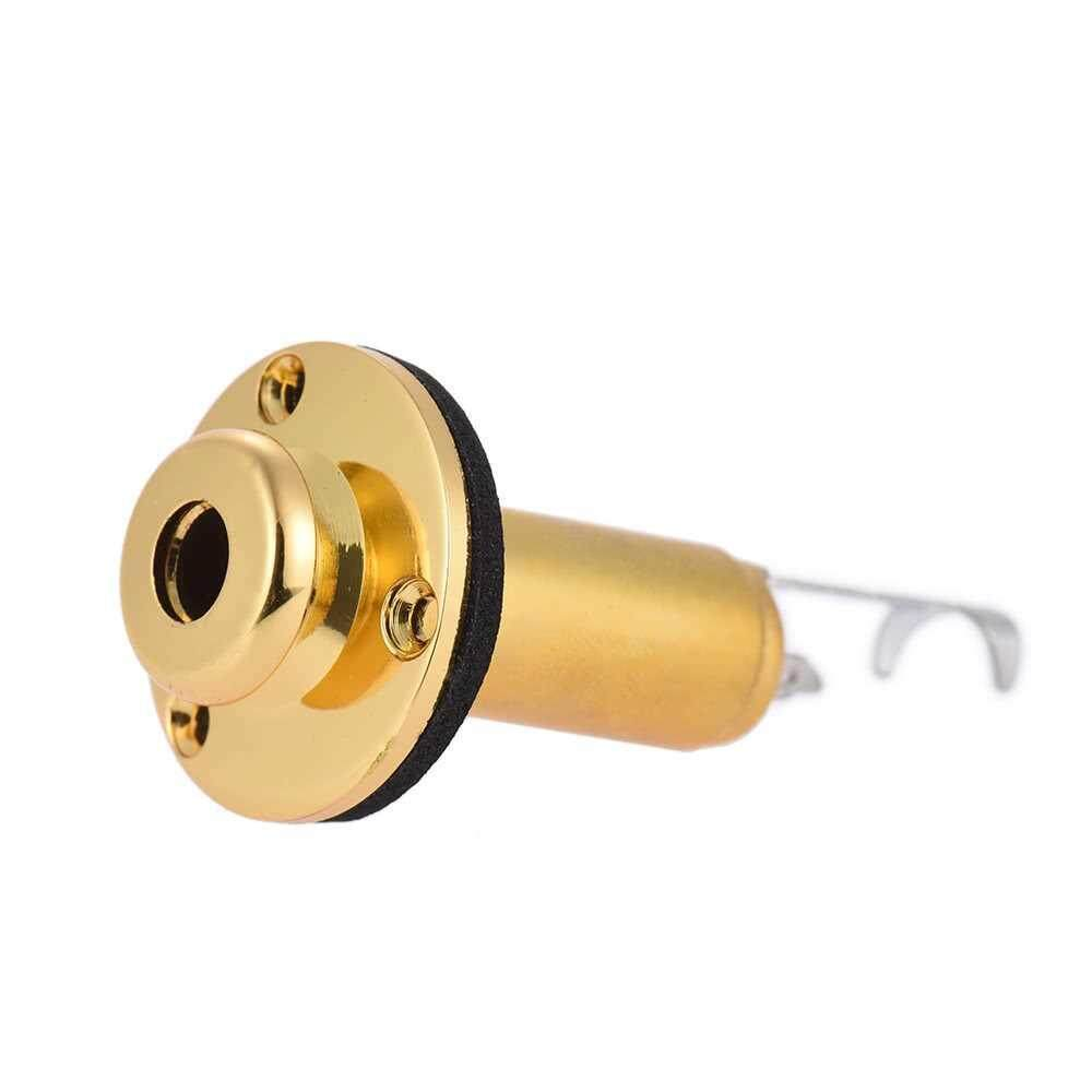 Best Selling Acoustic Electric Guitar Mono End Pin Endpin Jack Socket Plug 6.35mm 1/4 Inch Copper Material with Screws Guitar Parts Accessories