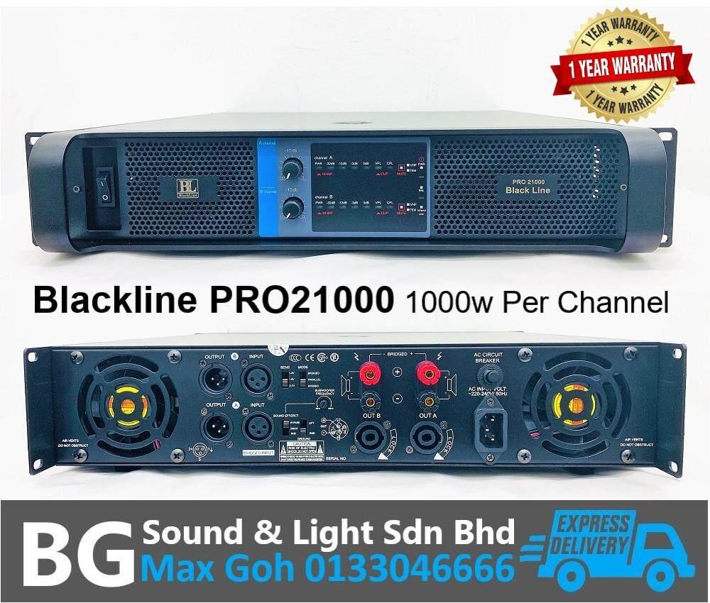 Blackline PRO21000 2 Channel 1000w 8 Ohms Per Channel Power Amplifier