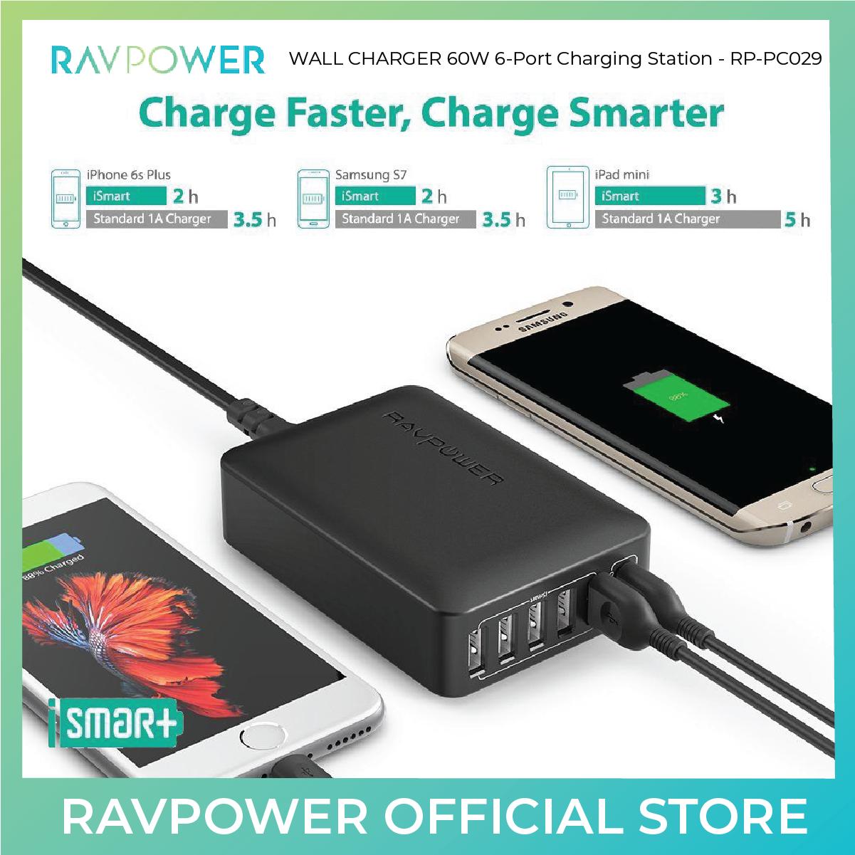 RAVPower 60W 6-Port Charging Station