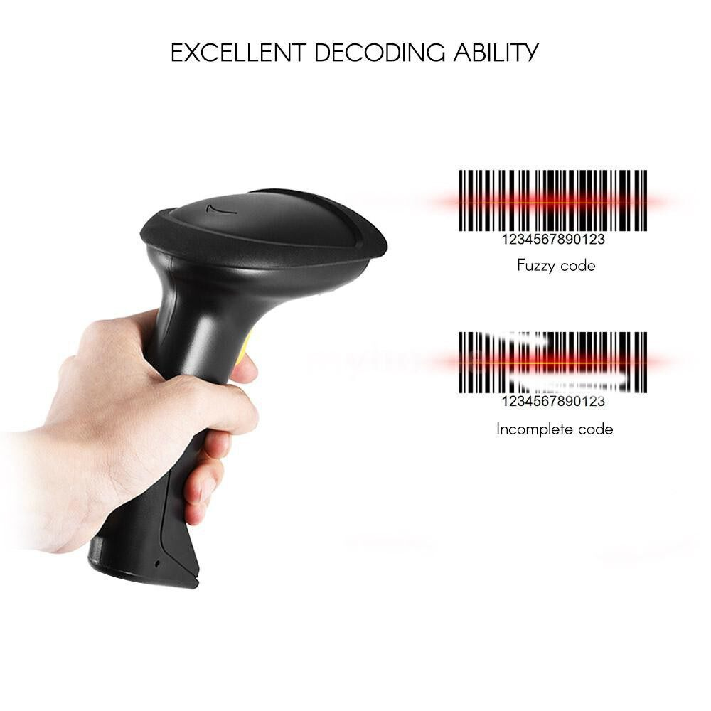 Printers & Projectors - WIRELESS 2.4GHz 1D Barcode Scanner CCD Bar Code Reader Supports Computer Screen Scanning Mobile - #