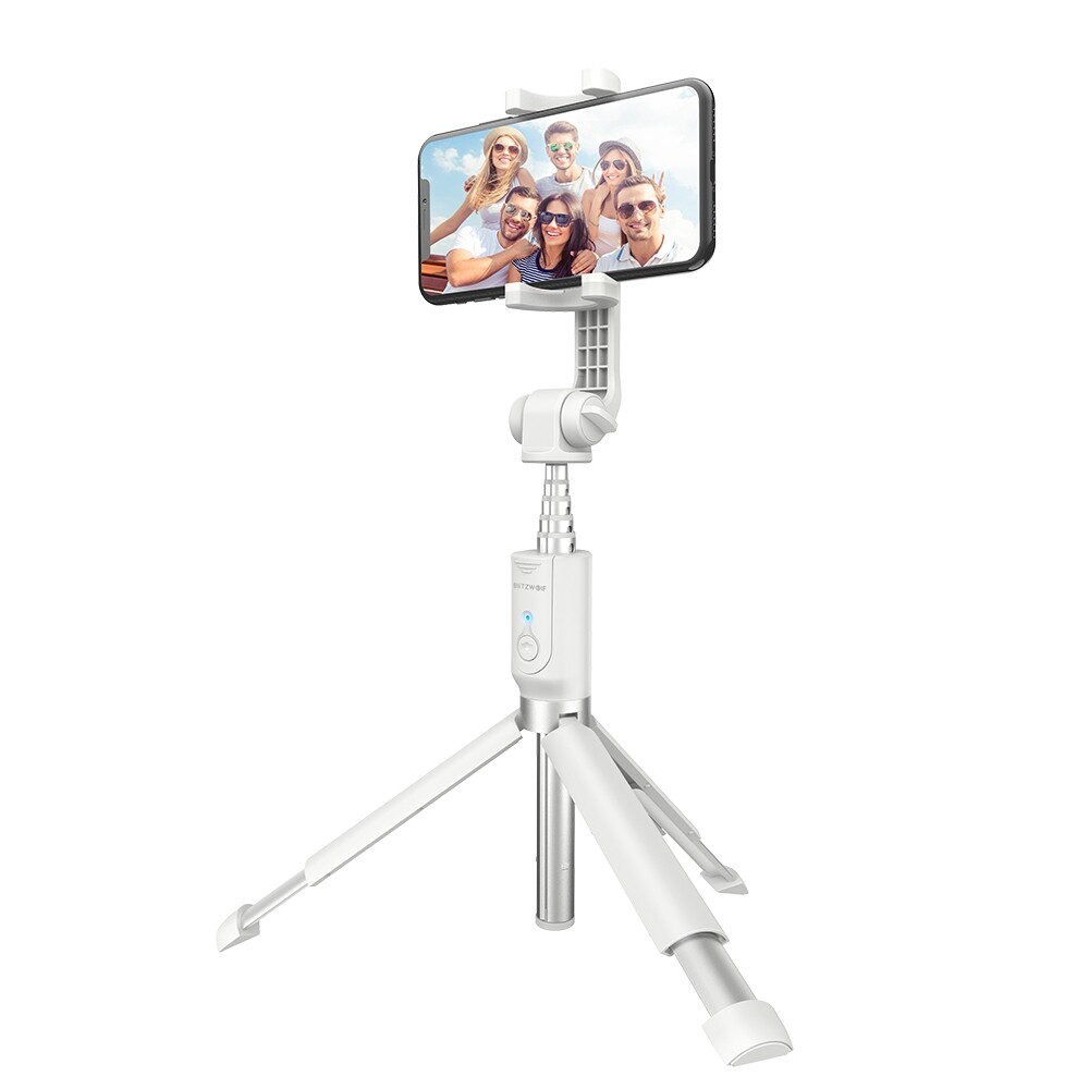 Tripods and Monopods - BW-BS4 Extended Rotation BLUETOOTH Tripod Selfie Stick - PINK / WHITE / BLACK
