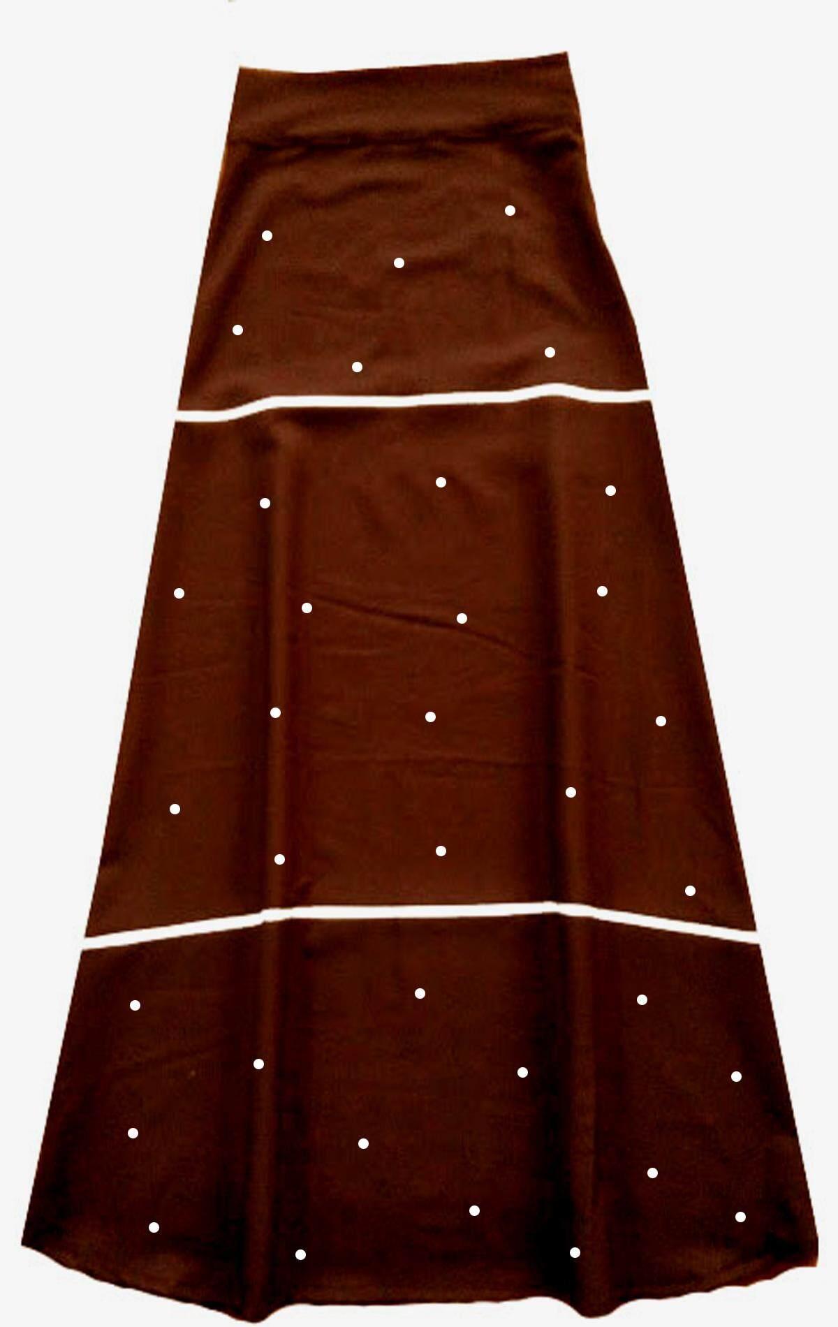 Dua Garis Crystal Long Skirt Fashion Women - Double Line Crystal