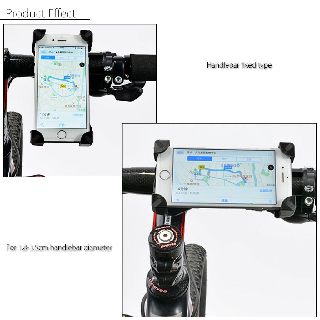 Phone Holder & Stand - Universal Motorcycle Bike Bicycle Handlebar Mount Holder - Cases Covers