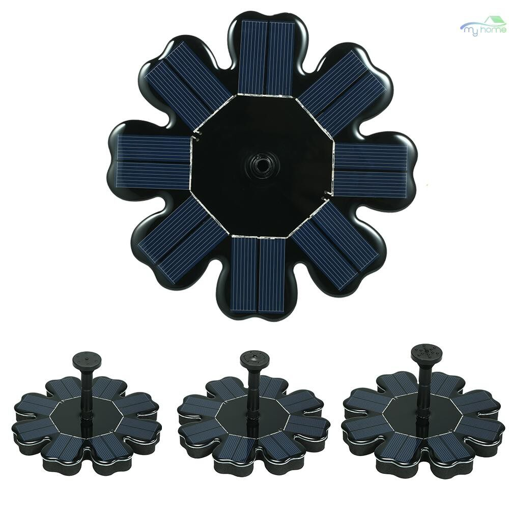 DIY Tools - Solar Fountain Flower-shape Solar Panel Kit Birdbath Floating Fountain Submersible Pump for Garden - #