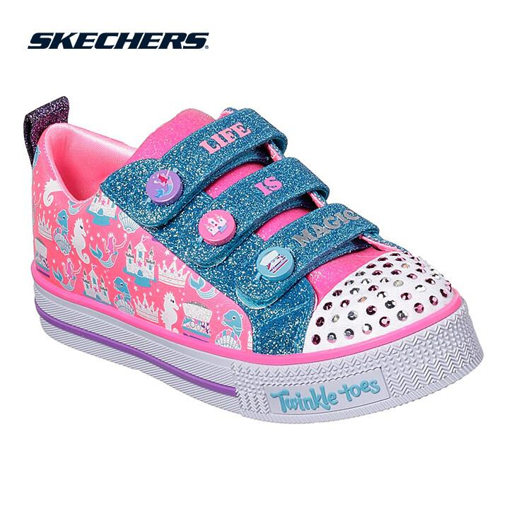 Skechers Twinkle Lite Girls Lifestyle Shoe - 20093L-PKMT