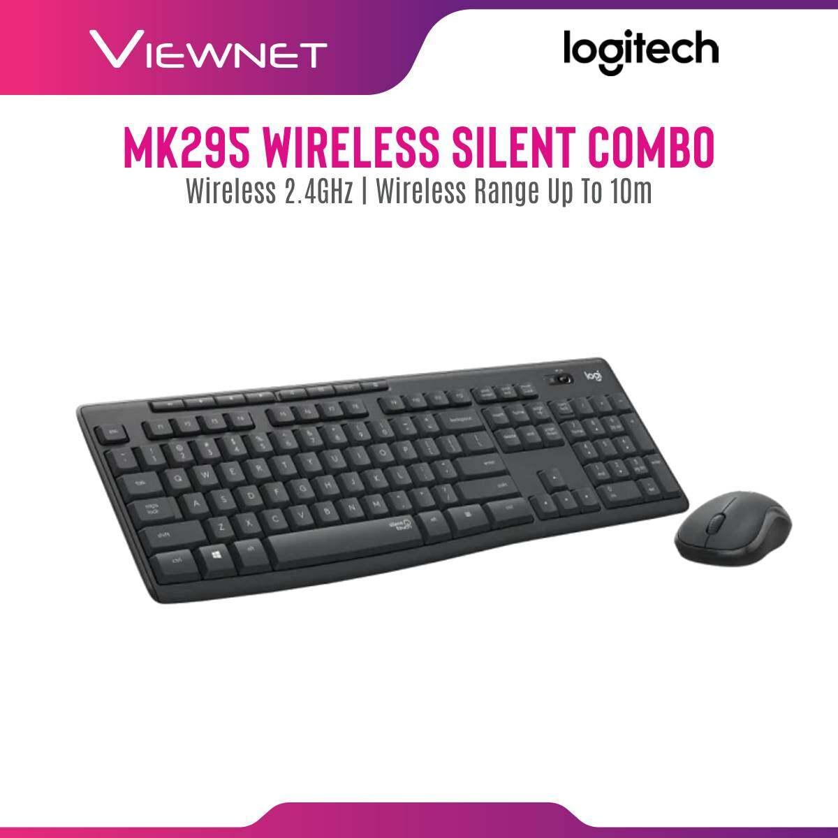 Logitech MK295 Wireless Silent Keyboard + Mouse Combo Desktop