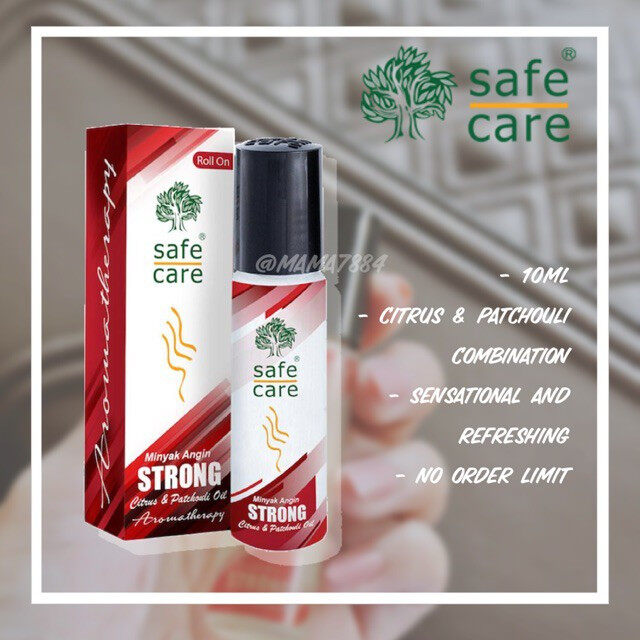 Safecare Strong 10ML Minyak Angin Aromatheraphy Oil Roll On