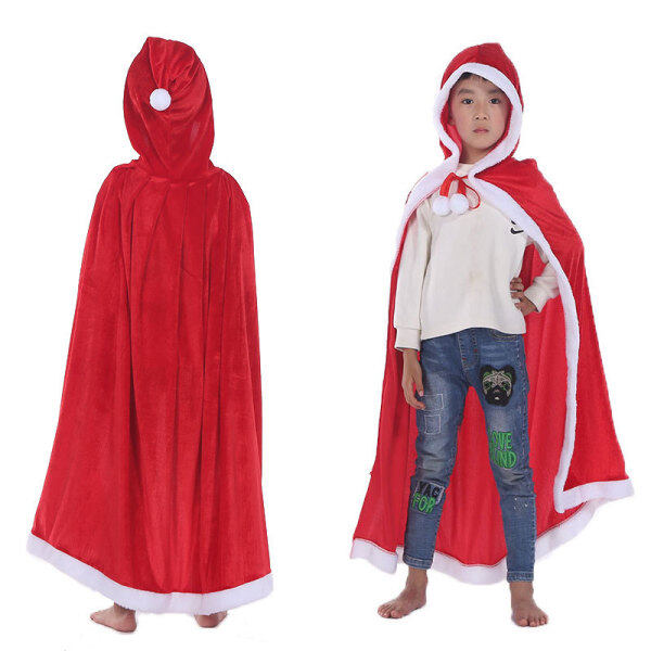 Christmas new adult cloak Europe and America christmas dress women Cloak Performance Costume Childrens Cloak Hooded Long