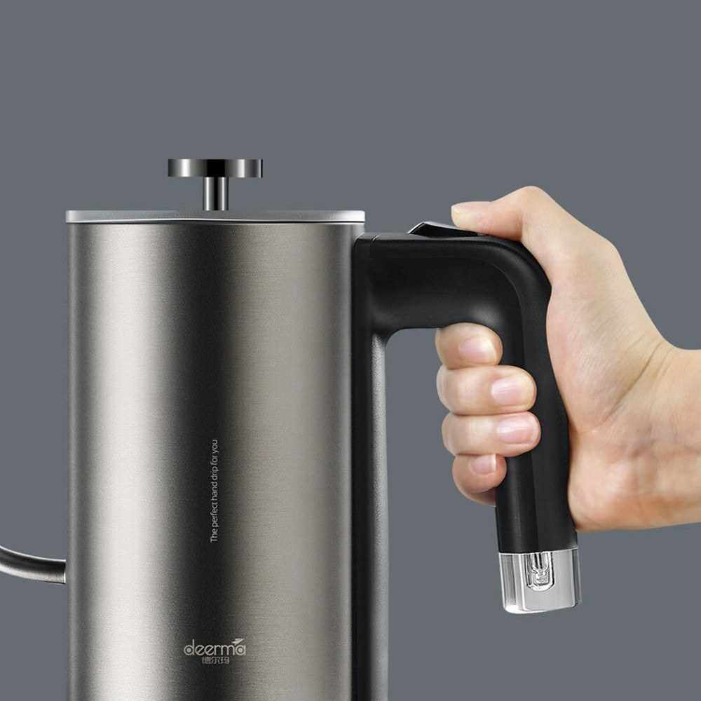 Best Selling Xiaomi Deerma Electric Kettle Tea Coffee Water Pot Smooth Water Control LED Heating Indicator 600ml 220V 800W (Grey)