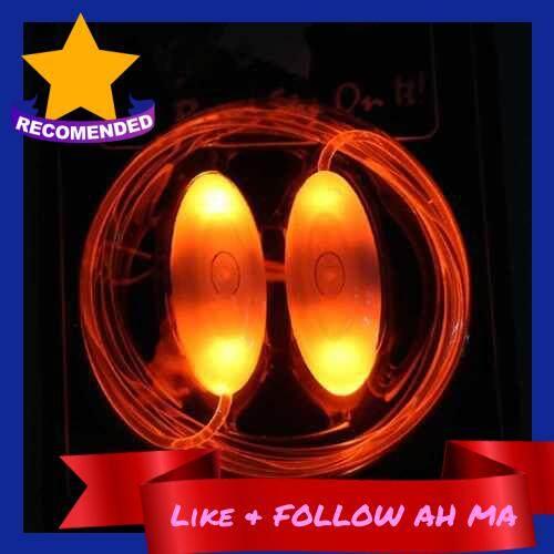 Best Selling LED Battery Powered Operated Light Shoelace (Orange)