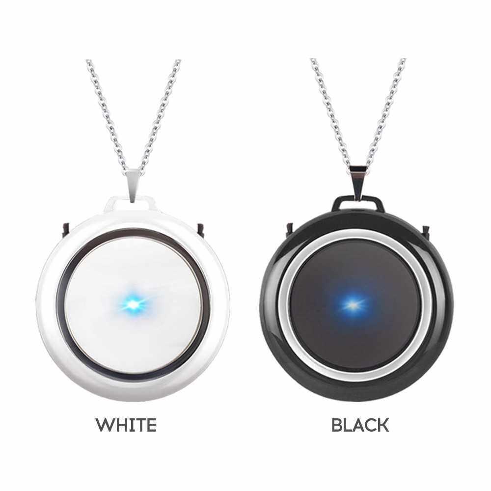 Best Selling Necklace Hanging Portable Car Oxygen Bar Negative Ion Air Purifier (Black) (Black)