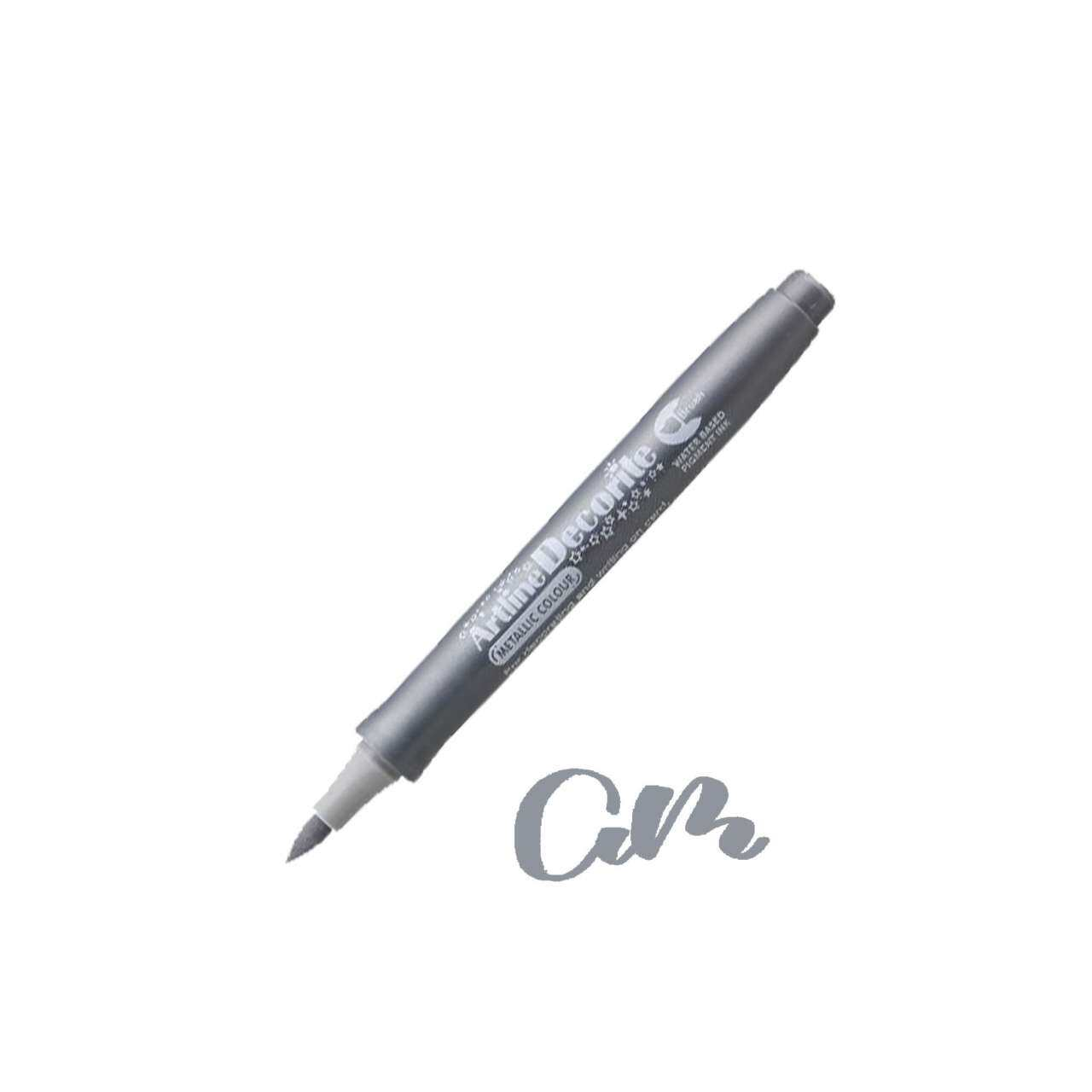 Artline Decorite Brush (EDF-F)  (EDFM-F) Silver
