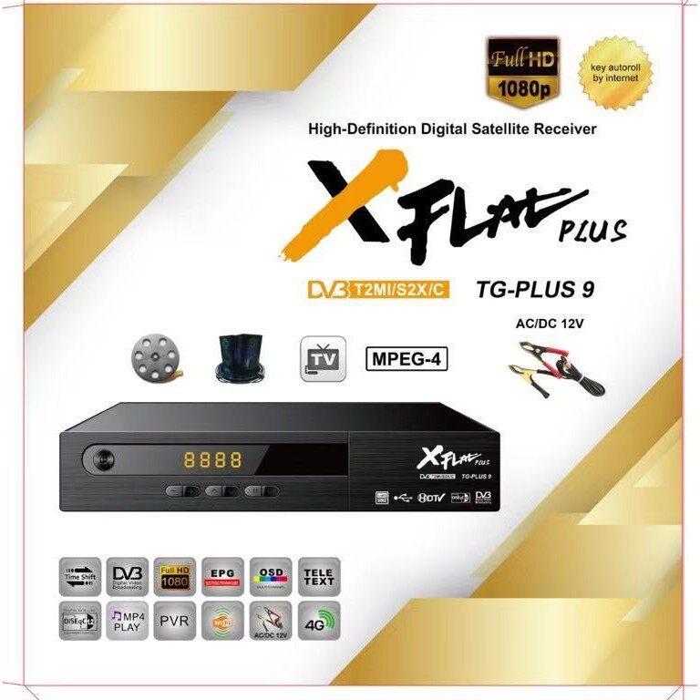 Hot Newest MYTV XFLAT TG-PLUS 9 TV receiver Combo S2+T2 cccam bisskey dekoder