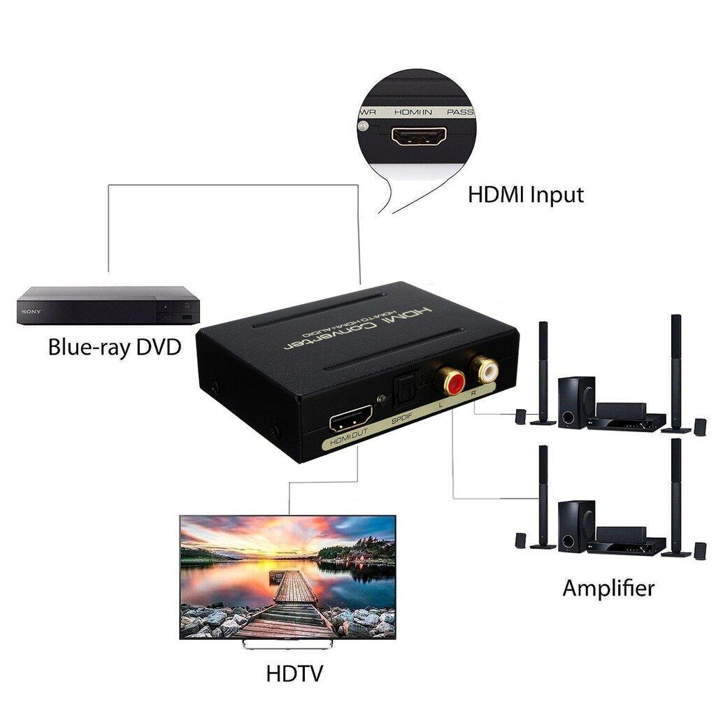 Gadgets - HDMI to HDMI & Optical SPDIF + RCA L/R 1080P 5.1CH Audio Extractor Converter_3C - Cool